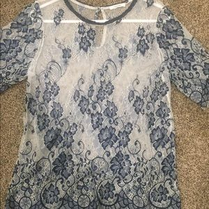 Maurices large lace blouse